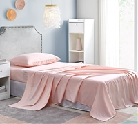 Bedside Pocket Twin XL Sheet Set - Supersoft Rose Quartz