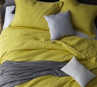 Decorative Extra Long Twin Bedding Vibrant Limelight Yellow Softest Stone Washed Twin XL Oversize Quilt