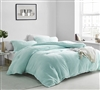 Softest Short Luxury Plush Extra Large Twin, Queen, or King Comforter in Stylish Green Shade