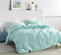 Stylish Teal Oversized Bedding with Fashionable Matching Shams and Cozy Plush Extra Large King Duvet Cover