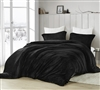 Coziest Plush Extra Large Twin, Queen, or King Duvet Cover in Solid Black Color with Matching Shams