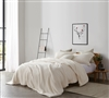 Stylish Easy to Match Off-White Extra Large Queen Duvet Cover with Softest Plush Sherpa