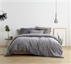 Unique Easy to Match Slate Black Oversized Twin XL Comforter with Extended Dimensions and Cozy Plush
