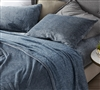 High Quality Twin Extra Long Sheet Set Unique UB-Jealy Nightfall Navy Blue Soft Coma Inducer Twin XL Bedding