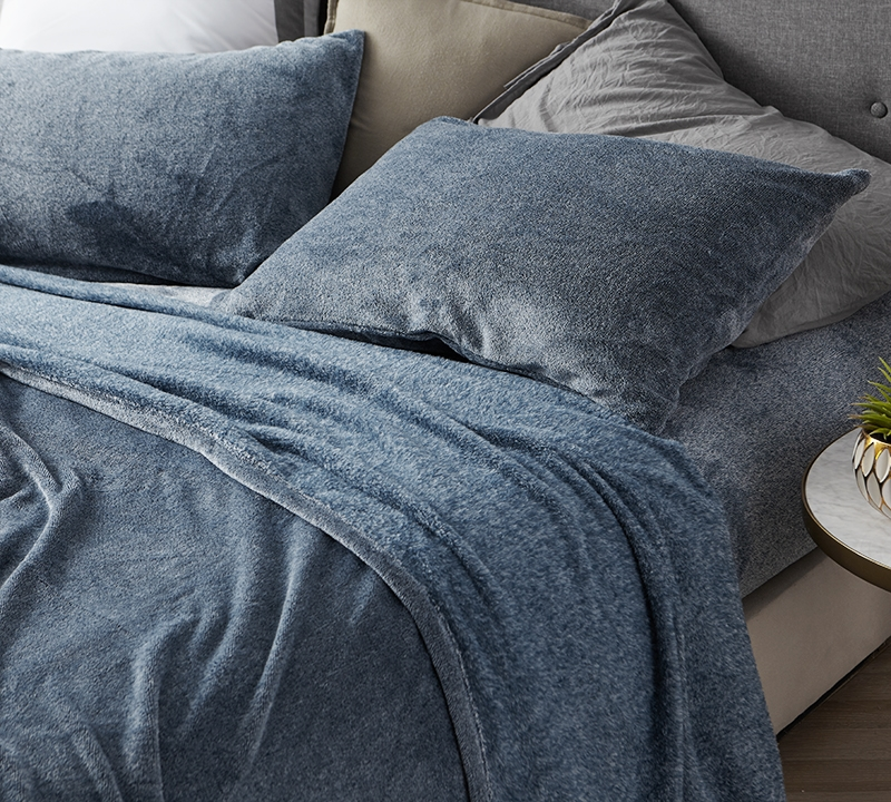 Navy Blue Extra Long Twin Complete Bedding Sheet Sets Cozy Coma