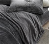 Plush Twin XL, Queen, or King Sheet Sets Stylish Slate Black UB-Jealy Coma Inducer Soft Bedding