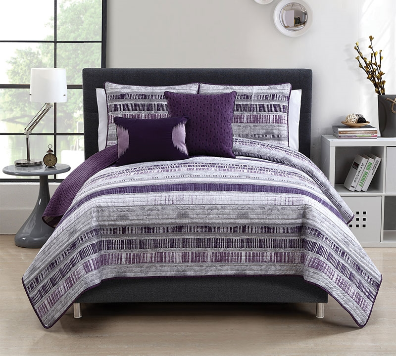 Shop Plum Adelaide 5 Piece Quilt Set King Size - Softest Comforter ... : king quilt bedding sets - Adamdwight.com