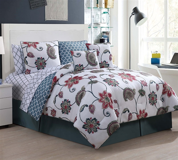 whole bedding comforter sets in king  ariana 10 piece