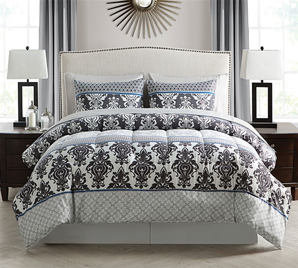 Beckham Bed in Bag - 8 Piece Full Comforter and Sheet Set