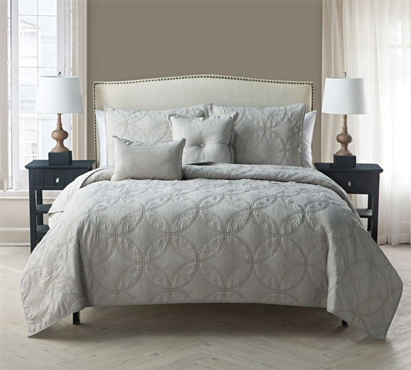 Eros 5 Piece Quilt Set Full Bedding - Queen Size Bedding Sets All-in-One