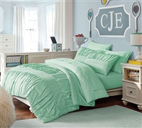 Best Janeth Green Full Size Bedding Sets - Bed in a Bag Set Includes Comforter, 2 Shams, Flat Sheet, Fitted Sheet, 2 Pillowcases