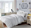 Best Full Bedding Sets - Janeth White  Bed in a Bag