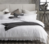 Elegant Portugal-Made Twin XL, Queen, or King Duvet Cover with High Quality White Cotton