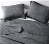 Lightweight Microfiber Twin Extra Long Bedding Quilt Stone Washed Pewter Gray with Simple Wrinkle Style