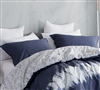 Softest bedding pillow sham sets sized Queen - navy blur queen bedding sham sets