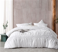Pleated Knit and Loop Textured King Comforter