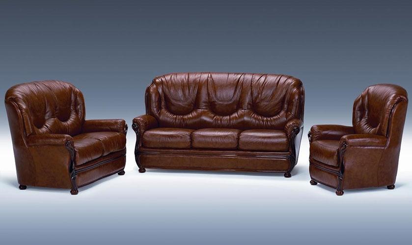 Dima Salotti Dallas Classic Italian Leather Chair In Brown By Vig