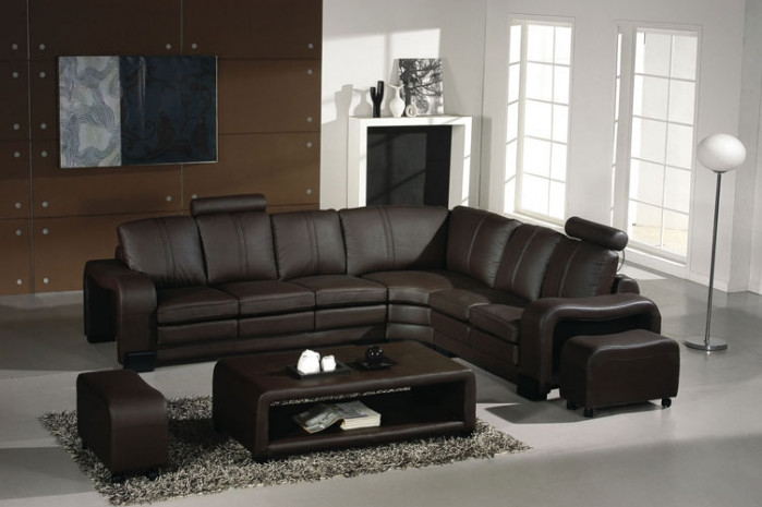 Fantastic Divani Casa 3330 4 Pc Modern Espresso Leather Sectional Sofa W 2 Ottomans And Coffee Table By Vig Furniture Ibusinesslaw Wood Chair Design Ideas Ibusinesslaworg