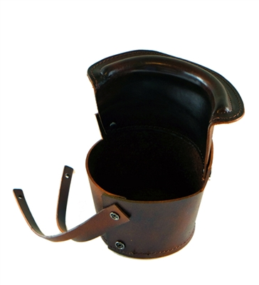 Brown Leather Bucket Pocket