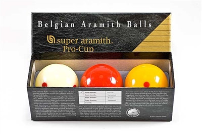 Super Aramith Pro Cup Carom Ball Set  61.5mm