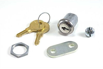 "7/8"" Tubular Lock with 2 Keys and 1 1/4"" Double Ended Cam"