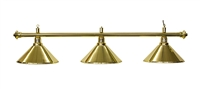 Set of 3, Gold Colored Metal Shades