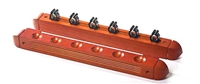 Maple 6 Cue 2 Piece Wall Rack
