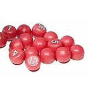 Red/White Plastic Tally Ball Set