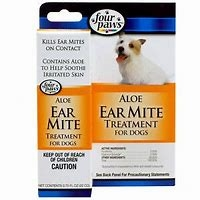 Four Paws Aloe Ear Mite Treatment For Dogs 0.75oz