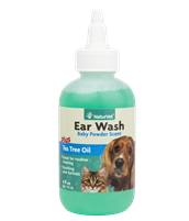 NaturVet Ear Wash  Plus Tea Tree Oil 4oz.