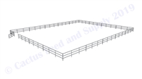 "Horse Round Pens & Arenas - 72'W x 120'D 1-5/8"" 3-Rail with 12' Ranch Gate Arena 