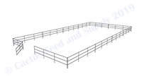 "Horse Round Pens & Arenas - 48'W x 96'D 1-7/8"" 3-Rail with 12' Ranch Gate Arena 