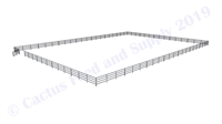 "Horse Round Pens & Arenas - 120'W x 168'D 1-7/8"" 4-Rail with 12' Ranch Gate Arena 