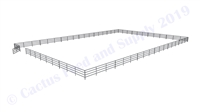 "Horse Round Pens & Arenas - 96'W x 144'D 1-7/8"" 4-Rail with 12' Ranch Gate Arena 