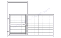 Hog Pen Bow Gate Panel:  46'H X 8'W