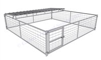 Hog Pen with Trussed Roof Shelter