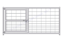 Hog Pen Gate Panel:  46'H X 8'W