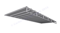 Hog Pen Solid Roof Shelter Trussed Panel:  16'W x 6'D