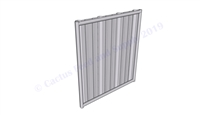 Hog Pen Solid Wall Panel:  4'W x 4'H