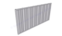 Hog Pen Solid Rear Wall Panel:  8'W x 4'D