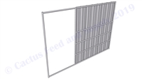 "Hybrid Horse Shelter Wall Panel 1-7/8"" with 4'W Opening:  8'H x 12'W"