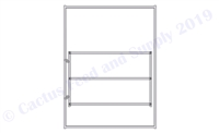 8'H x 6'W Round Pen 3-Rail Gate Panel Pinched 18GA 1-5/8""