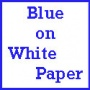 "23"" Blue on White Poster Paper"