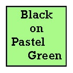 "23"" Black on Pastel Green Poster Paper"