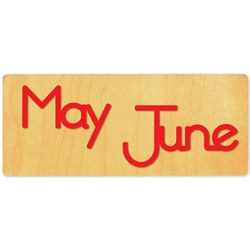 Ellison SureCut Die - Word, Month - May/June - EL26233