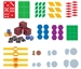 """NEW"" Ellison SureCut Die Set - Common Core Math (12 Die Set)"