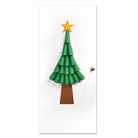 Ellison SureCut Die - Door Decor, 3-D Christmas Tree