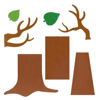Ellison SureCut Die - Door Decor, Bare Tree & Leaves (3 Die Design)