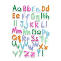 Ellison SureCut Die Set - Freehand Type Alphabet (7 Die Set)- Large