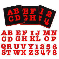 "Ellison AllStar 1 1/2"" Uppercase letters and number set ELA10228"